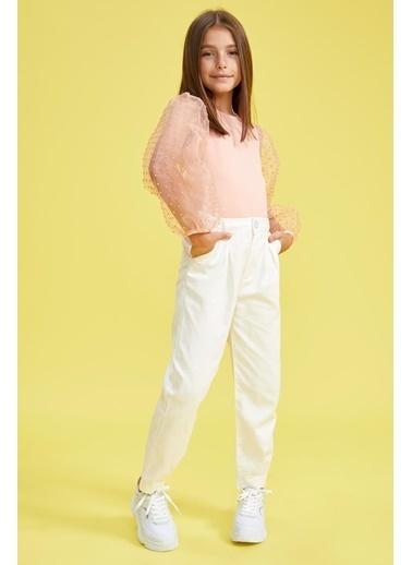 DeFacto Kız Çocuk Carrot Fit Pantolon Beyaz